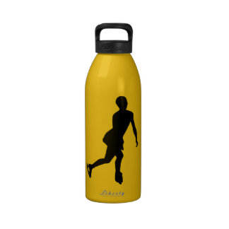 Ice Skater; yellow Drinking Bottle