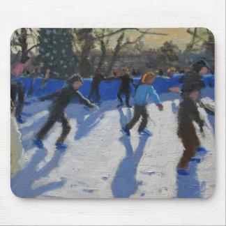 Ice skaters Christmas Fayre Fair Hyde Park Mouse Pad