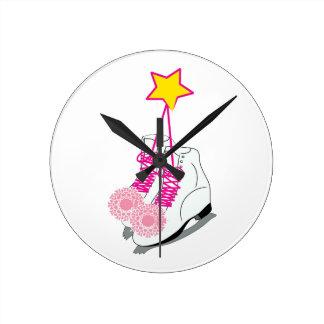 Ice Skates Round Clock