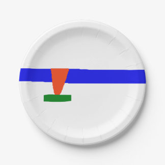 Ice Skating 7 Inch Paper Plate
