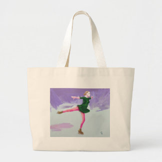 Ice Skating Art Large Tote Bag