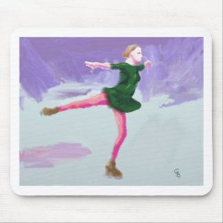 Ice Skating Art Mouse Pad