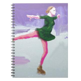 Ice Skating Art Notebook