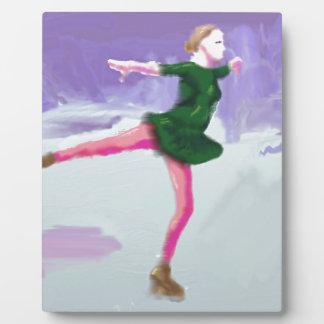 Ice Skating Art Plaque