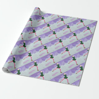 Ice Skating Art Wrapping Paper