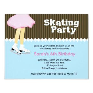 Ice Skating Birthday 11 Cm X 14 Cm Invitation Card