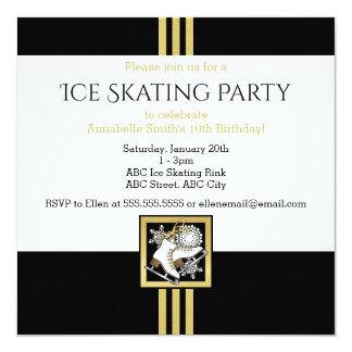 Ice Skating Birthday | Christmas Party Invitations