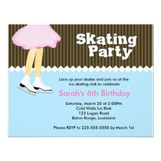 Ice Skating Birthday Invitation