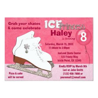 Ice Skating Birthday Invitation HOT PINK Princess
