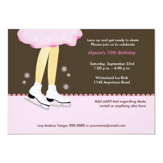 Ice Skating Birthday Invitation-Light Card