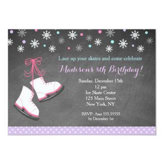Ice Skating Birthday Invitations for Girls