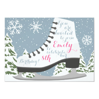 Ice Skating Birthday Party for Kids Card