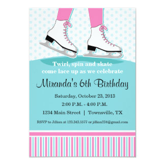 Ice Skating Birthday Party Invitation