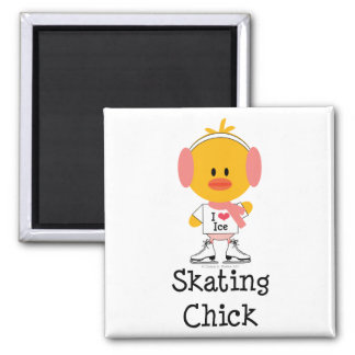 Ice Skating Chick Magnet