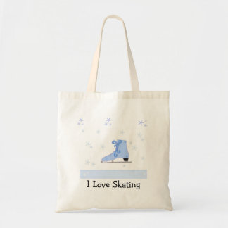 Ice Skating Design Tote Bag