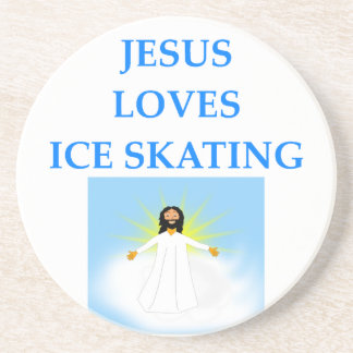 ice skating drink coasters
