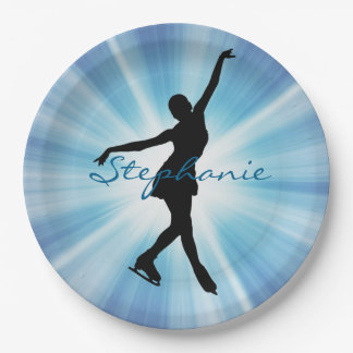 Ice Skating/Figure Skating Paper Party Plate