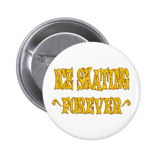 Ice Skating Forever 6 Cm Round Badge