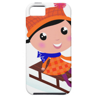 Ice skating girl Orange Case For The iPhone 5