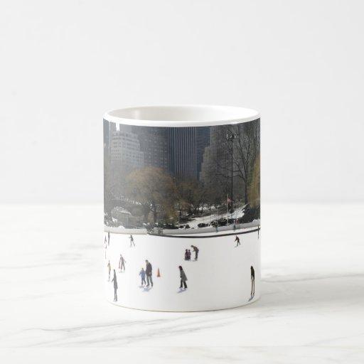 Ice Skating in Central Park Coffee Mug