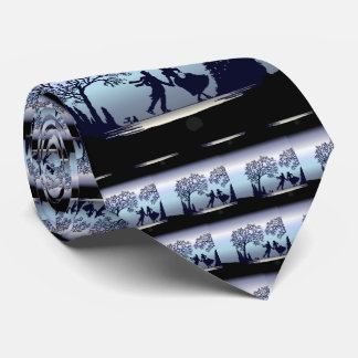 Ice Skating in the Park - Silhouette Tie