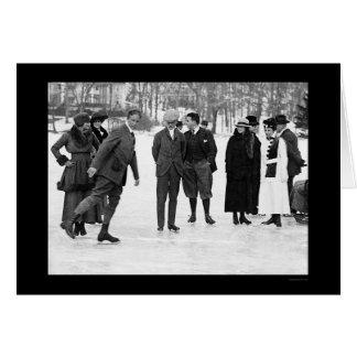 Ice Skating in Tuxedo Park, NY 1920 Card