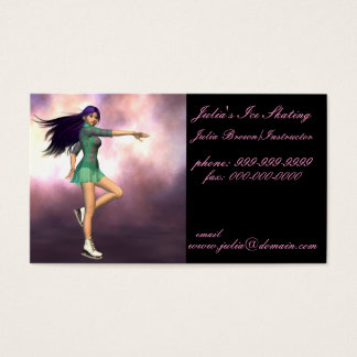 Ice Skating Instructor Business Cards