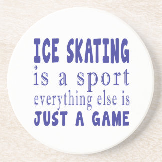 ICE SKATING JUST A GAME COASTERS