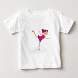Ice skating kid on white baby T-Shirt