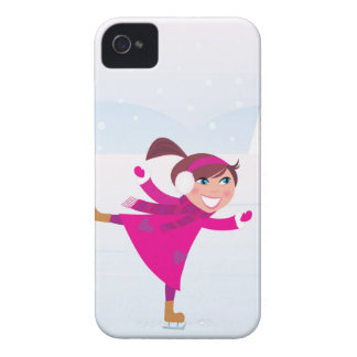 Ice skating kid pink Case-Mate iPhone 4 case