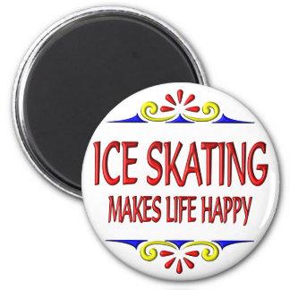 Ice Skating Makes Life Happy 6 Cm Round Magnet
