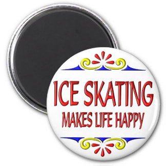 Ice Skating Makes Life Happy Magnet