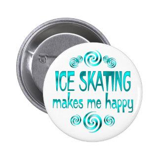 Ice Skating Makes Me Happy 6 Cm Round Badge