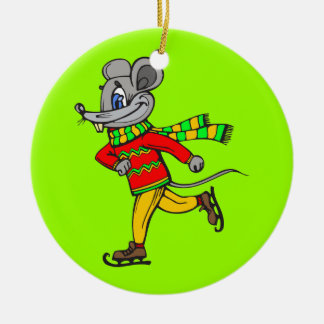 Ice Skating Mouse Ornaments