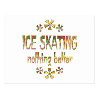 Ice Skating Nothing Better Postcard