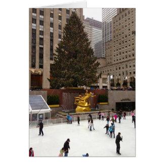 Ice Skating NYC New York Christmas Holiday Card