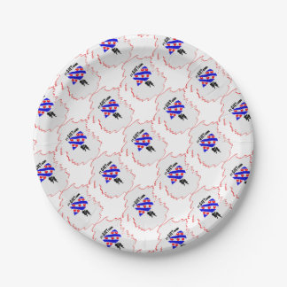 Ice skating paper plate