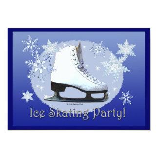 Ice Skating Party! 13 Cm X 18 Cm Invitation Card