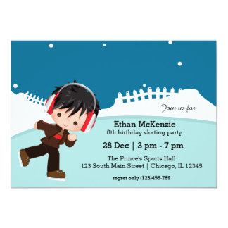 Ice Skating party Card