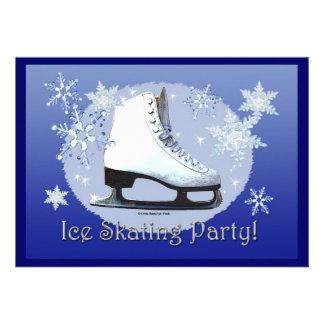 Ice Skating Party Custom Invitation