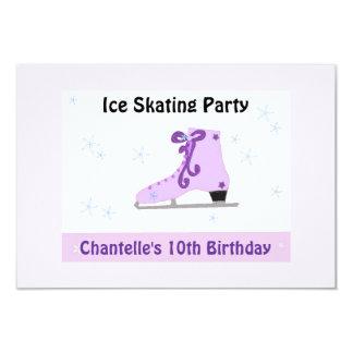 "Ice Skating Party Invitation 3.5"" X 5"" Invitation Card"