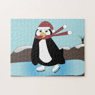 Ice Skating Penguin Jigsaw Puzzle