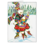Ice Skating Polar Bears Cards