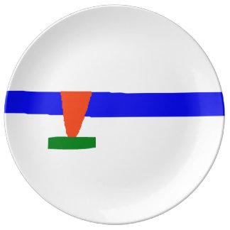 Ice Skating Porcelain Plates