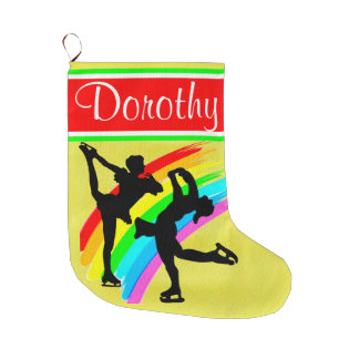 ICE SKATING QUEEN PERSONALIZED CHRISTMAS STOCKING