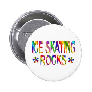 ICE SKATING ROCKS 6 CM ROUND BADGE
