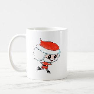 Ice Skating Santa Christmas Coffee Mug