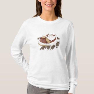 Ice Skating Santa & Mrs. Claus by Trina Clark T-Shirt