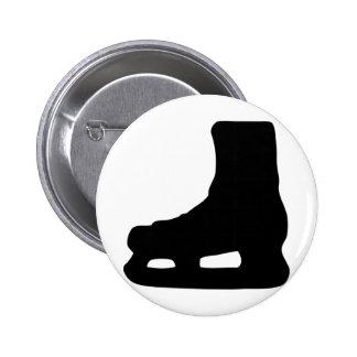 ice skating skates 6 cm round badge