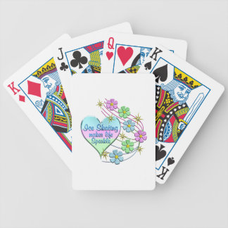 Ice Skating Sparkles Bicycle Playing Cards